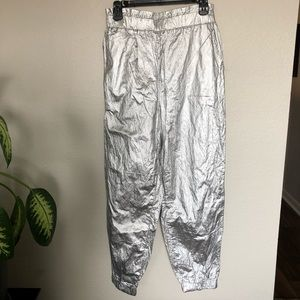 Free People Pants & Jumpsuits - Free People Metallic Joggers
